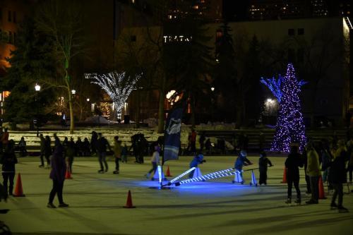 Public Skate in Olympic Plaza